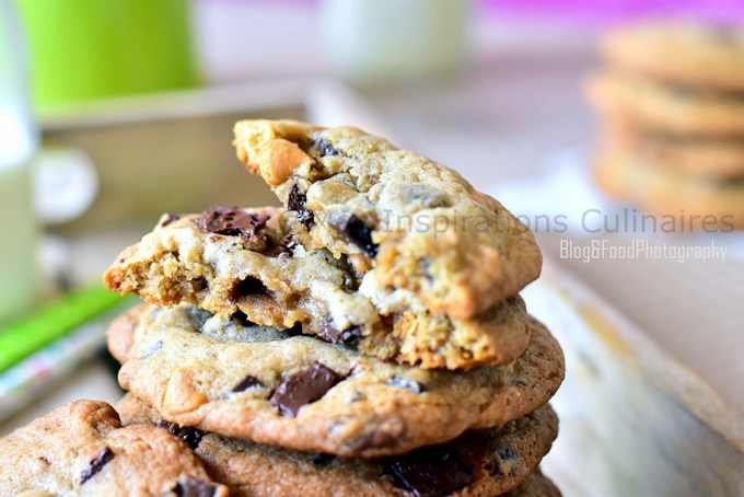 les cookies americains aux 3 chocolats