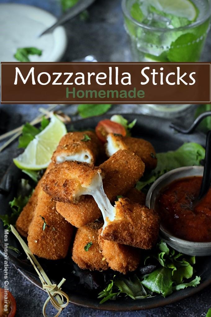 Les Mozzarella sticks (bâtonnet de mozzarella panés)