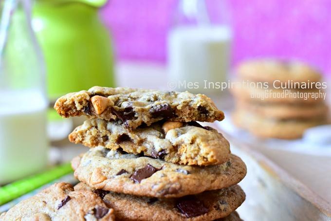 Cookies moelleux aux 3 chocolat