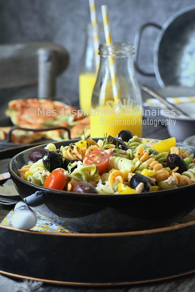 Salade de pâtes au thon recette facile