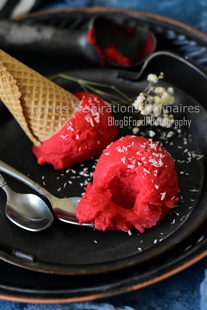 Sorbet à la rhubarbe