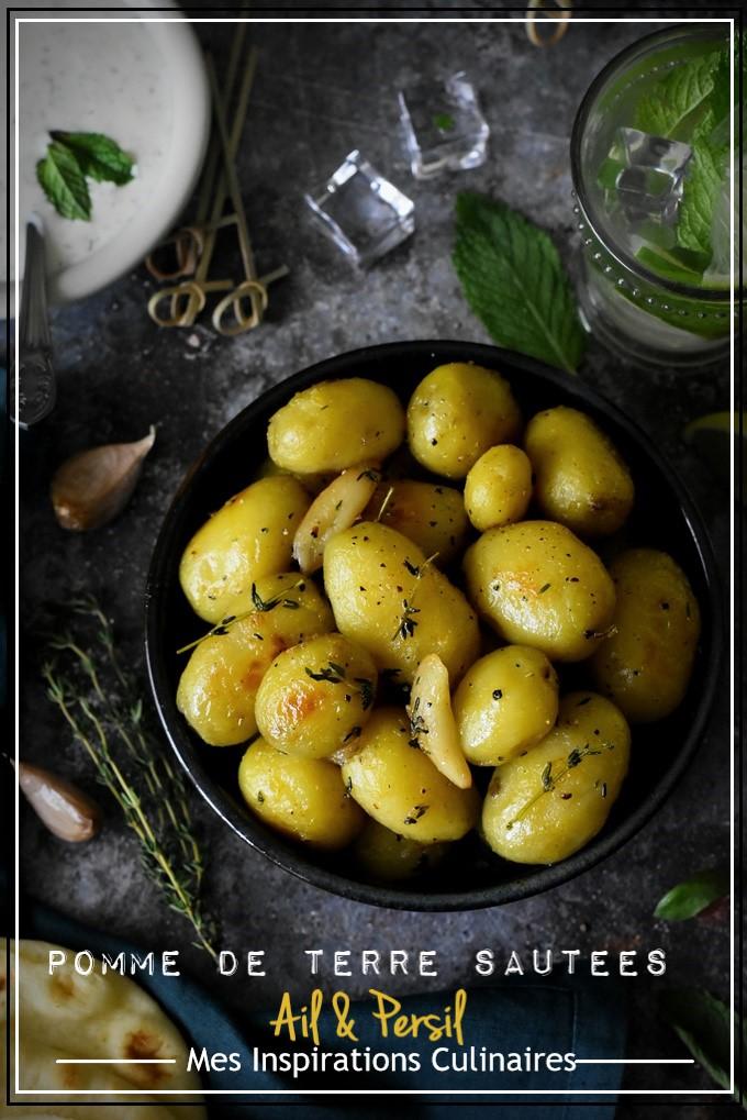 Pomme de terre rôties à l'ail et thym