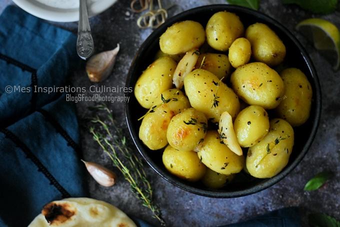 Pomme de terre rôties à l'ail et thym, recette rapide