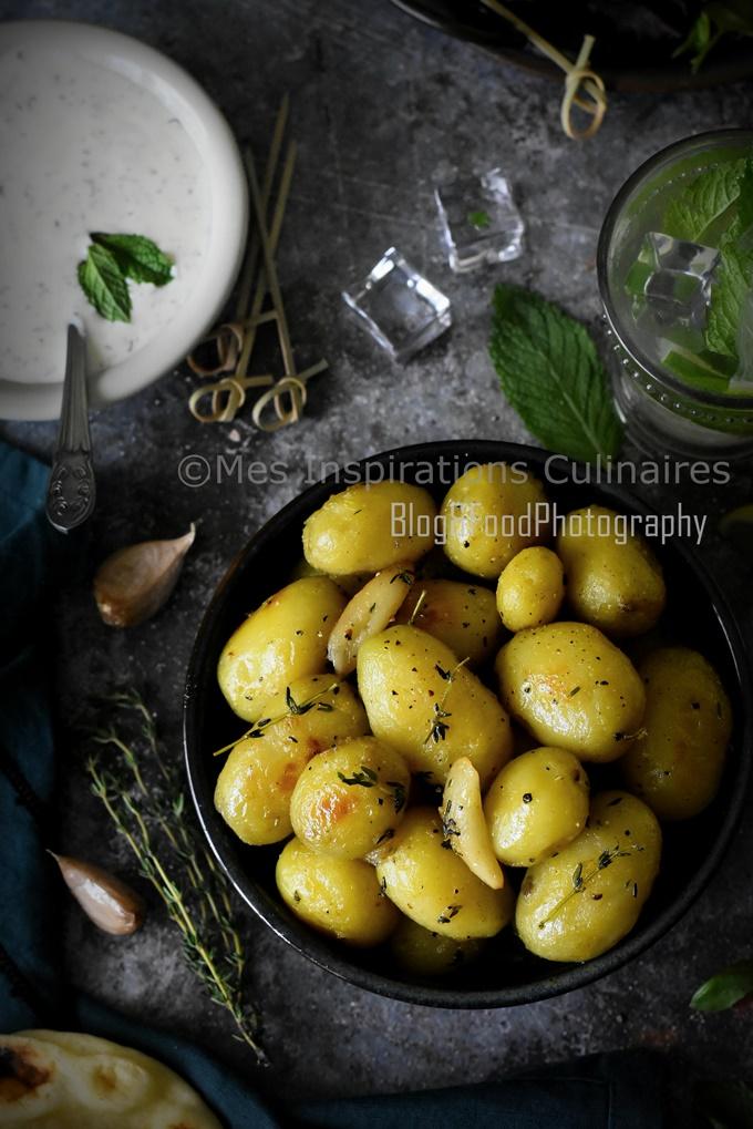 Recette Pomme de terre sautées à l'ail et thym