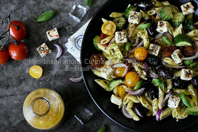 Recette Salade de penne à la feta façon grecque
