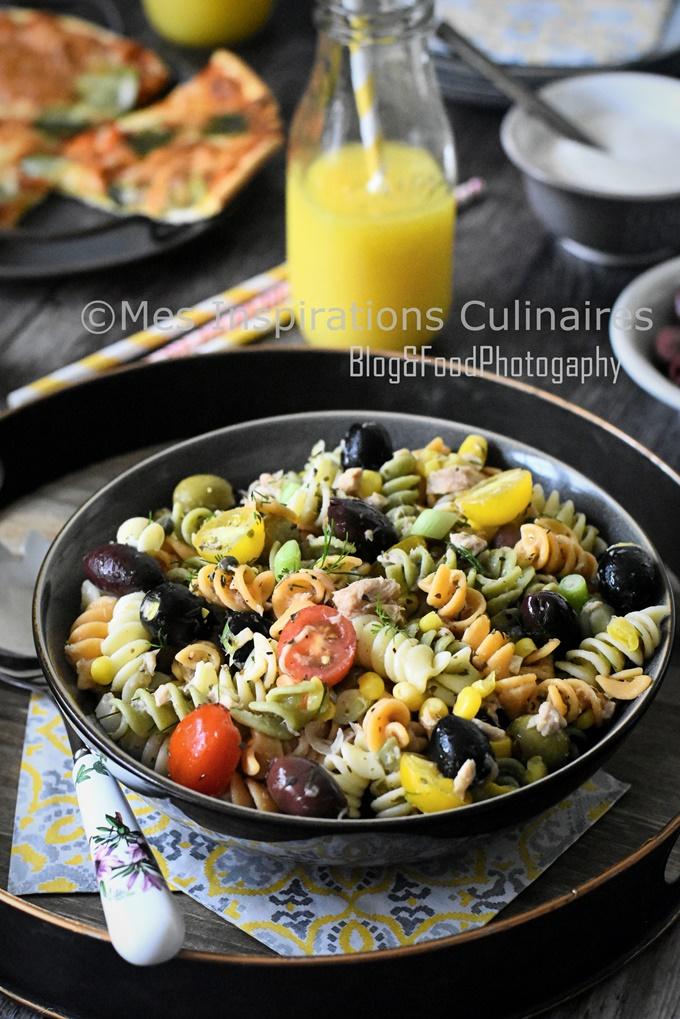 Salade de pâtes au thon recette rapide