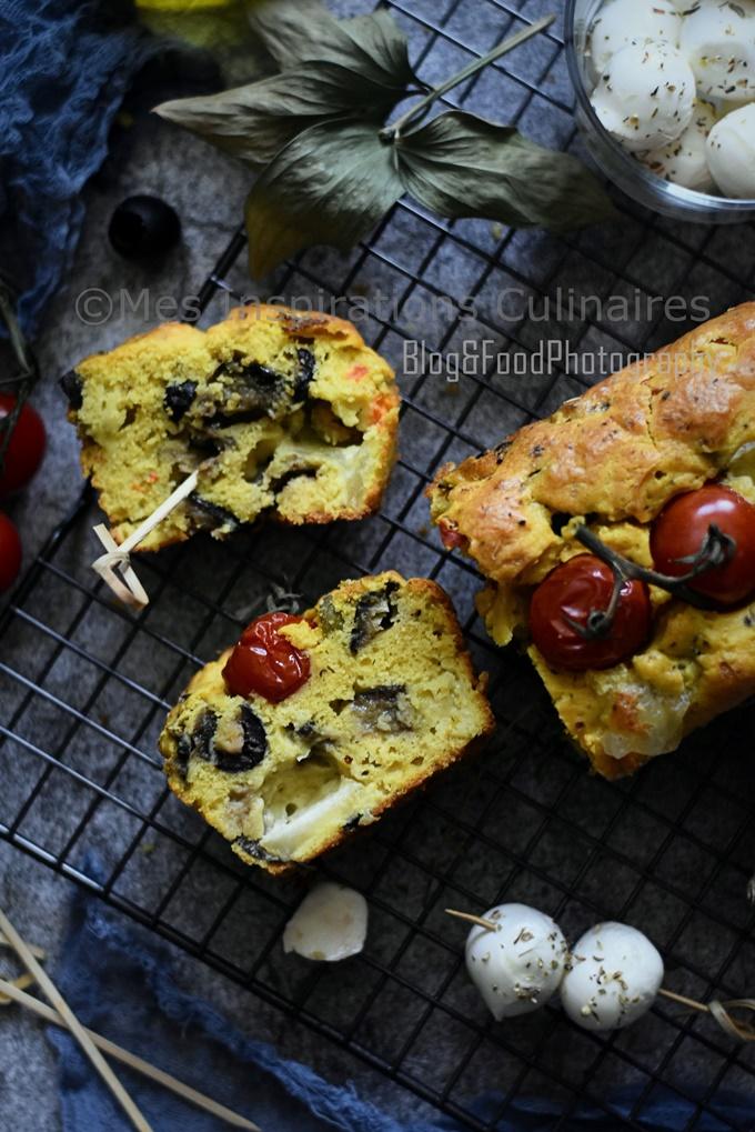 Cake aux aubergines et Mozzarella