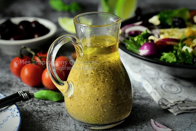 Vinaigrette maison pour salade grecque