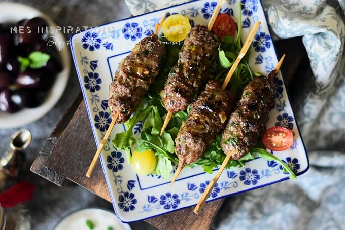 Brochettes de kefta (viande hachée)