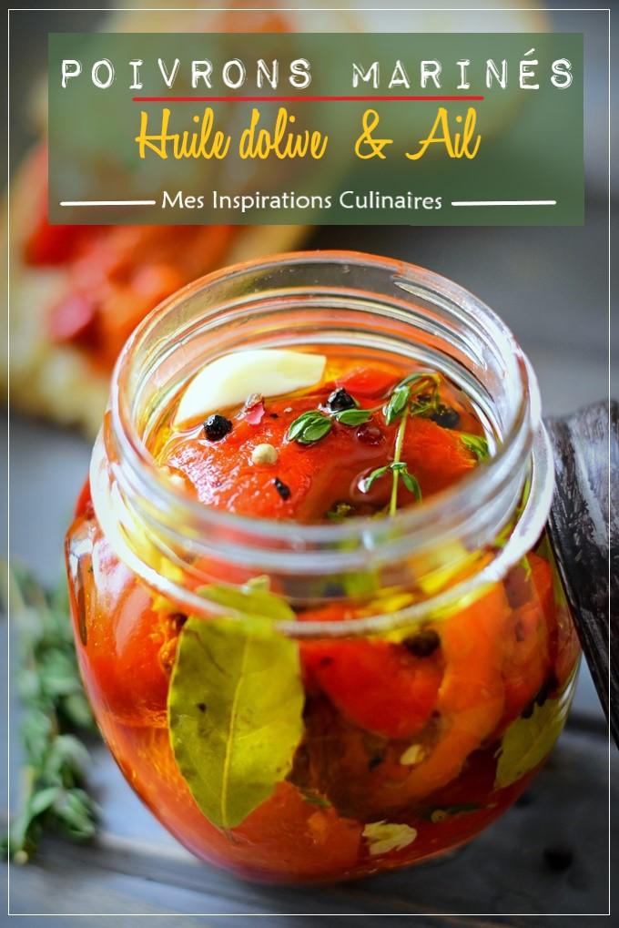 Poivrons marinés à l'huile d'olive et ail