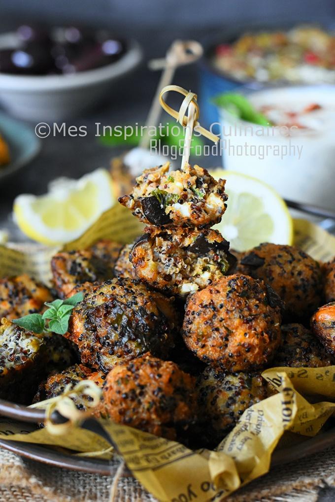 Boulettes Kefta aubergine feta menthe (recette palestinienne)