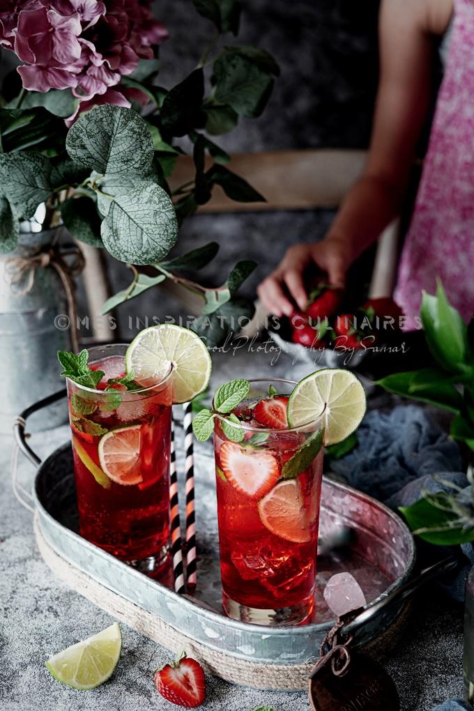Recette mojito aux fraises