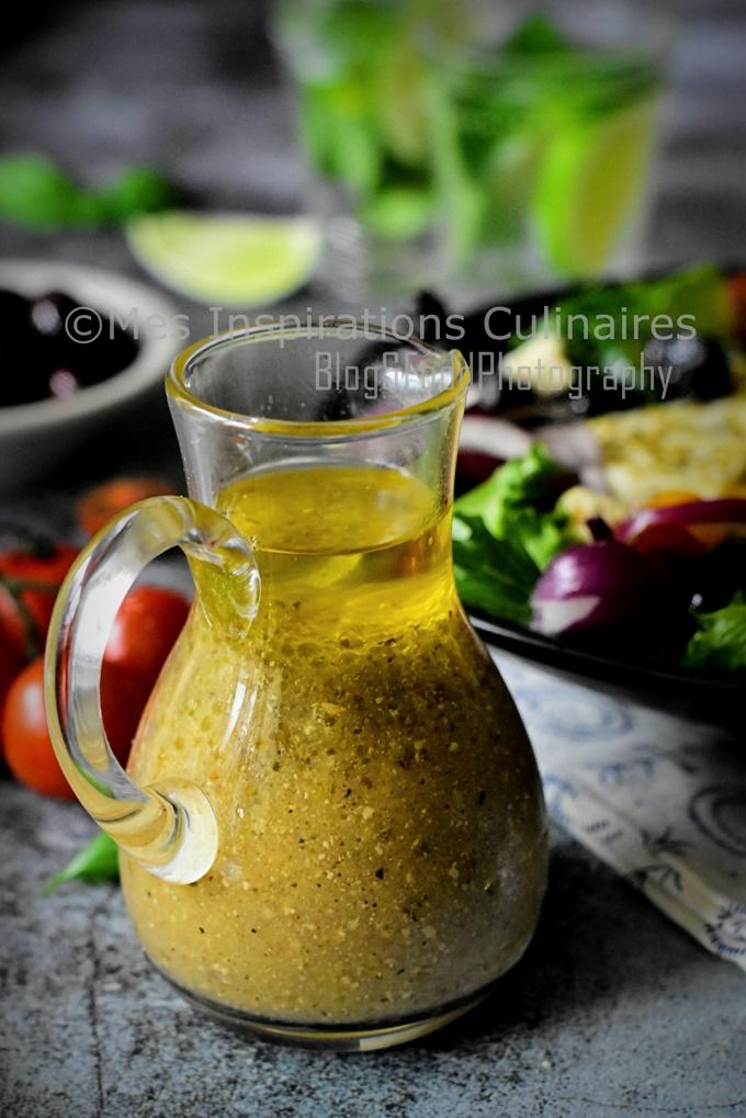 Vinaigrette maison : salade grecque