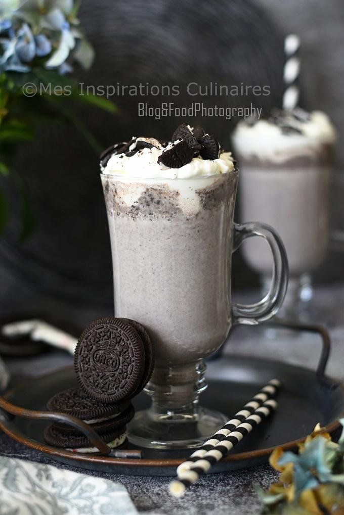 Recette Milkshake à la banane et Oreo