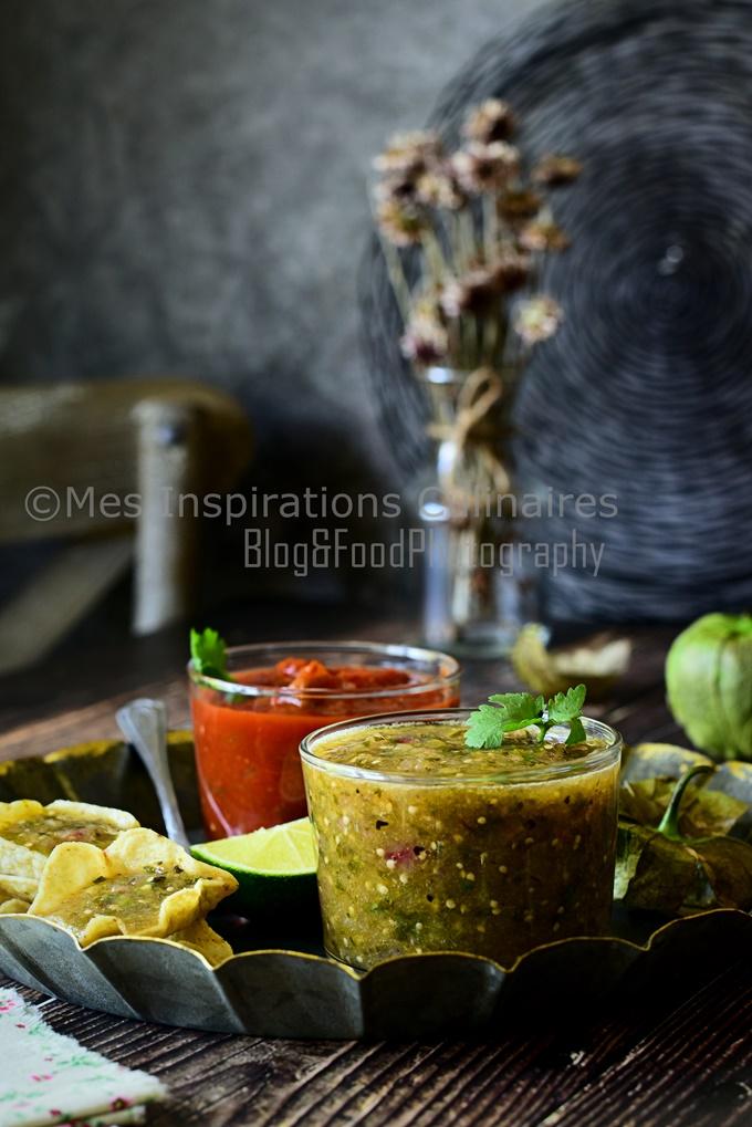 /recette Salsa Verde sauce verte mexicaine aux tomatillos