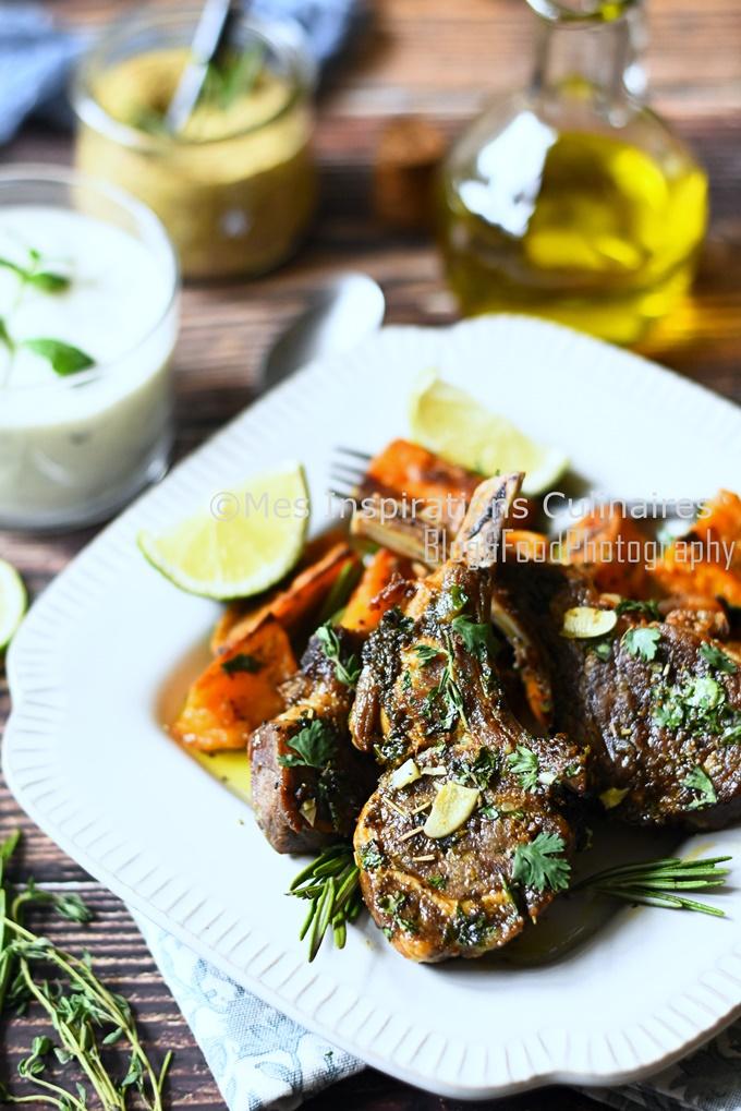Côtelettes d'agneau rôties au four cuisine marocaine