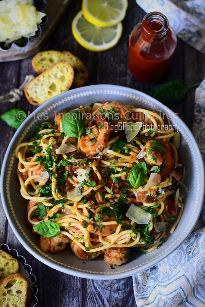Crevettes Thaï au curry rouge recette thailandaise