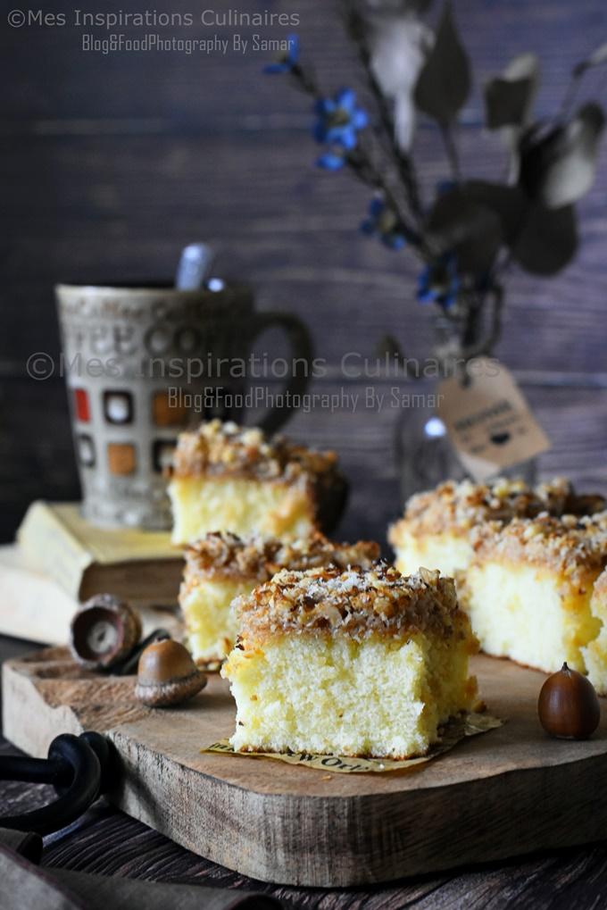 Gâteau au lait chaud spongieux