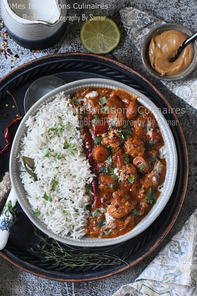 Recette Mafé au poulet sénégalais
