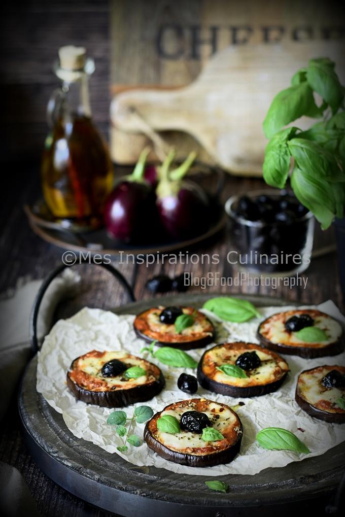Aubergines au four, aubergine façon pizza