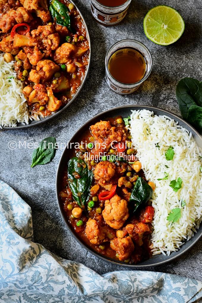 recette de Curry de chou fleur végétarien
