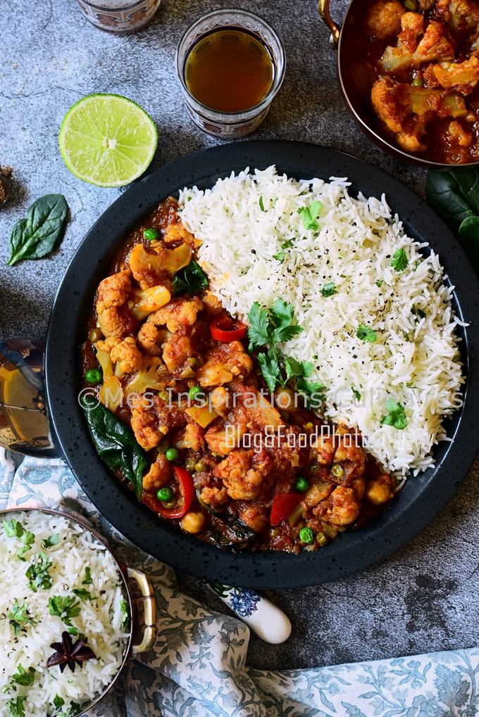 recette de Curry de chou fleur végétarien cuisine du Népal