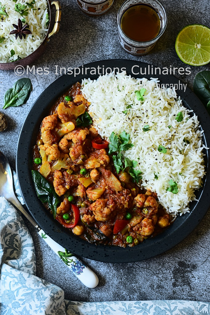 Curry de chou fleur végétarien recette du Népal