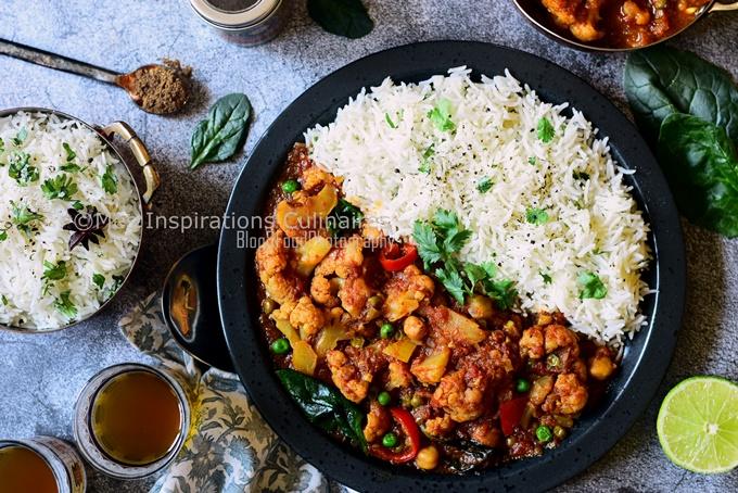 Recette curry de chou fleur au lait de coco Misayeko Tarkari