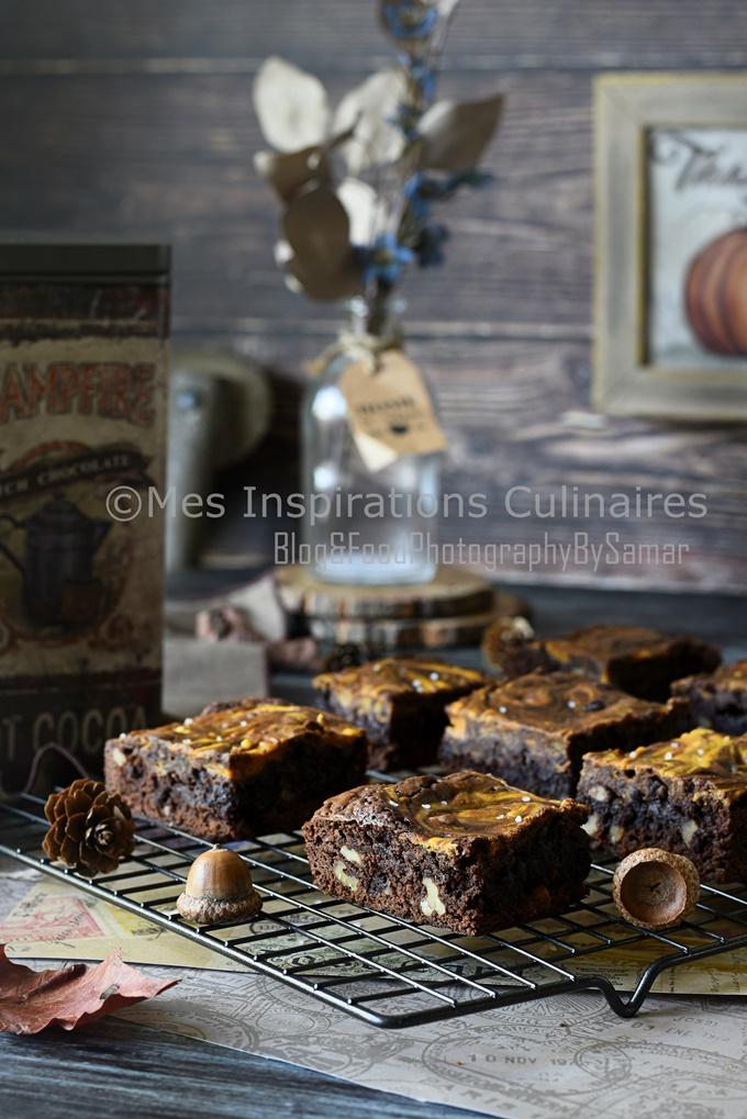 Recette Brownie aux noix chocolat et citrouille