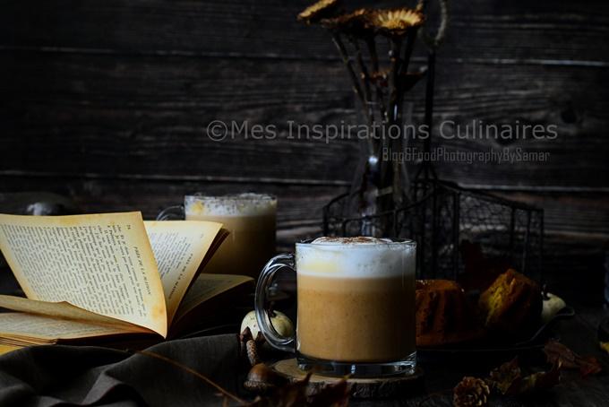 Café latte pumpkin spice latte