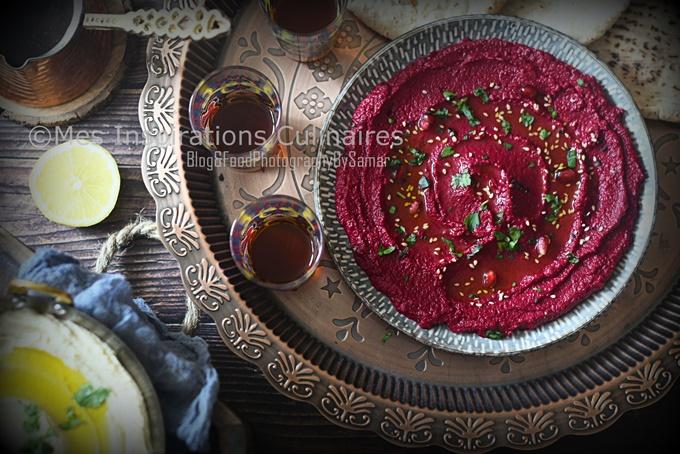 Houmous de betterave ou Mtabbal shawandar