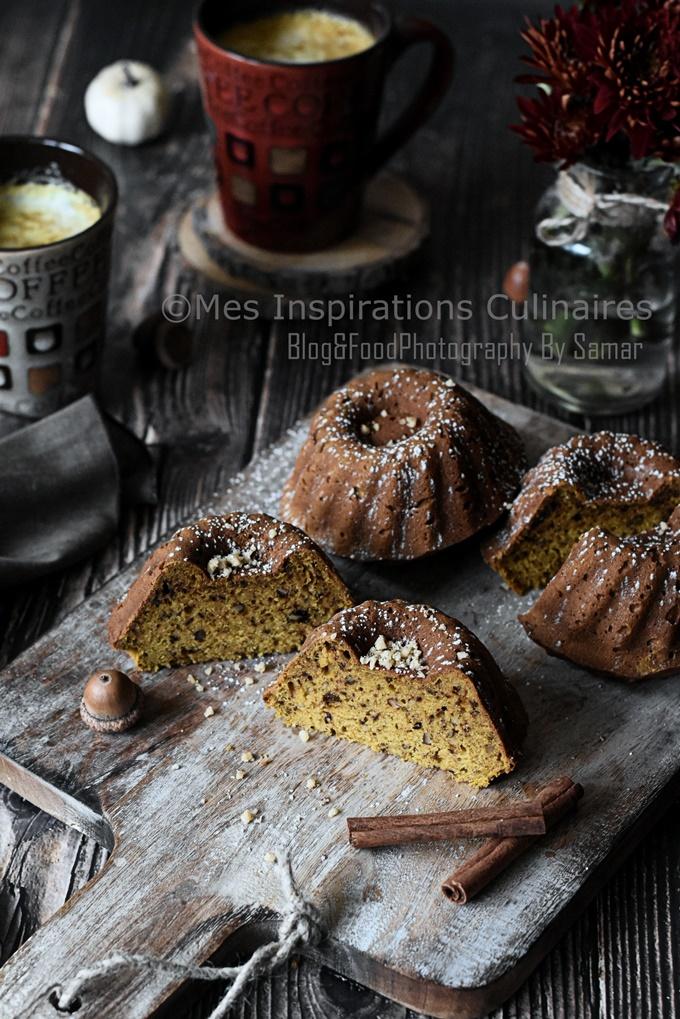 Gâteau au potiron et aux noix recette rapide