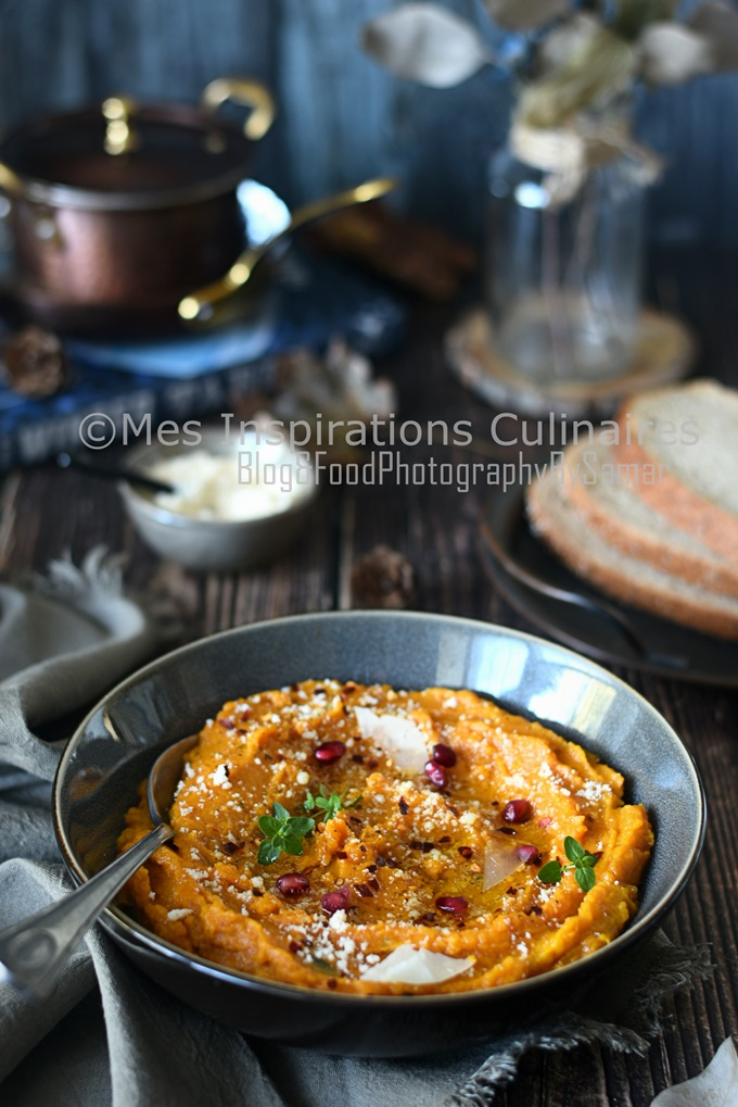 Purée de butternut au curry crémeuse