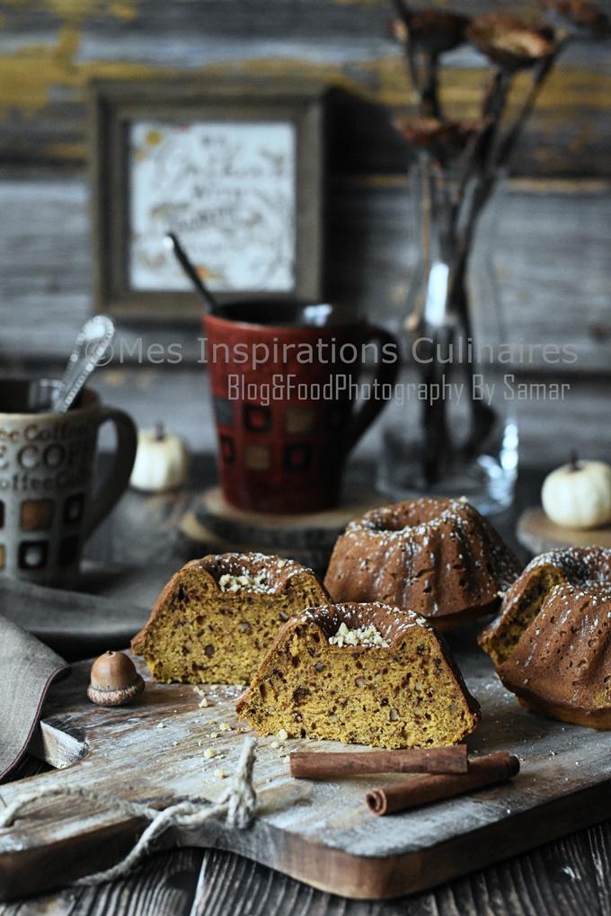 Gâteau au potiron et aux noix moelleux