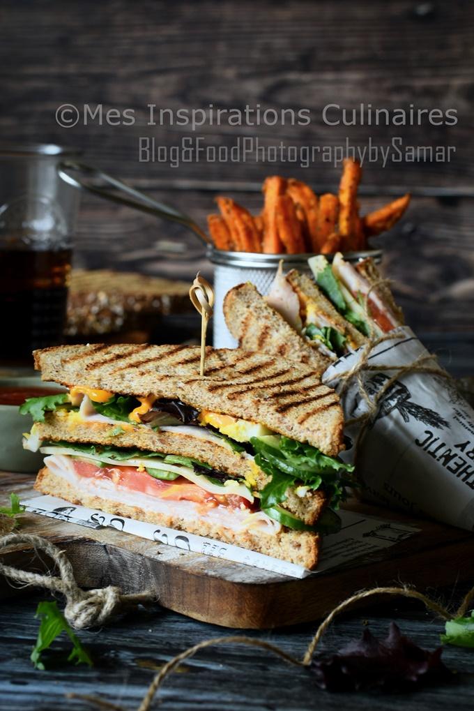 Le club sandwich au poulet
