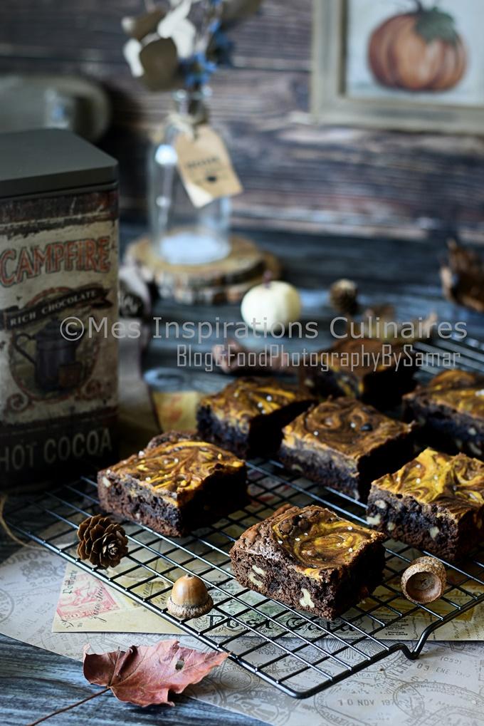 Recette Brownie aux noix et citrouille