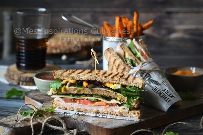 Club sandwich au poulet : recette maison