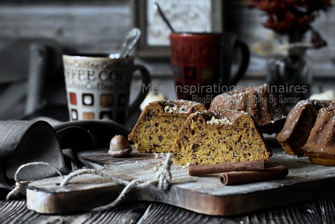 Gâteau au potiron et aux noix