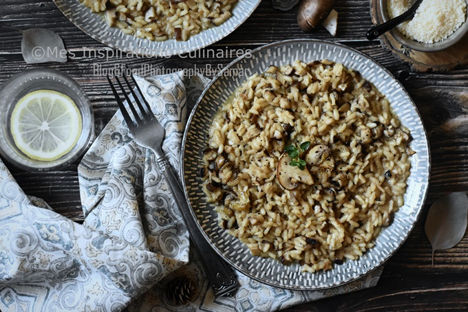 Recette Risotto aux champignons crémeux