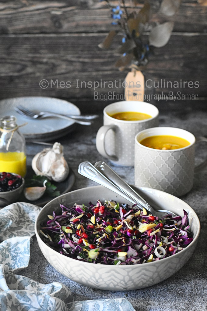 Salade de chou rouge, recette express