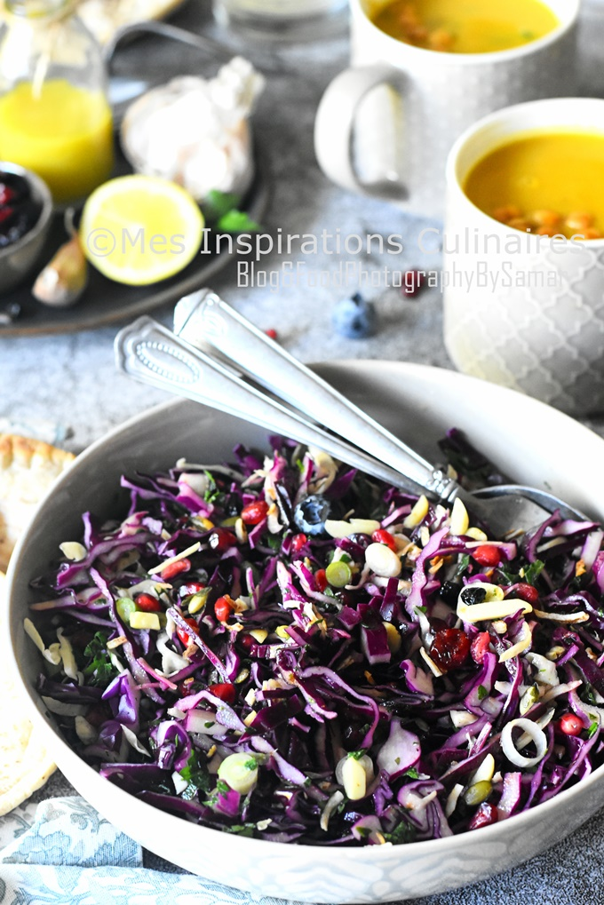 Salade de chou rouge, recette facile