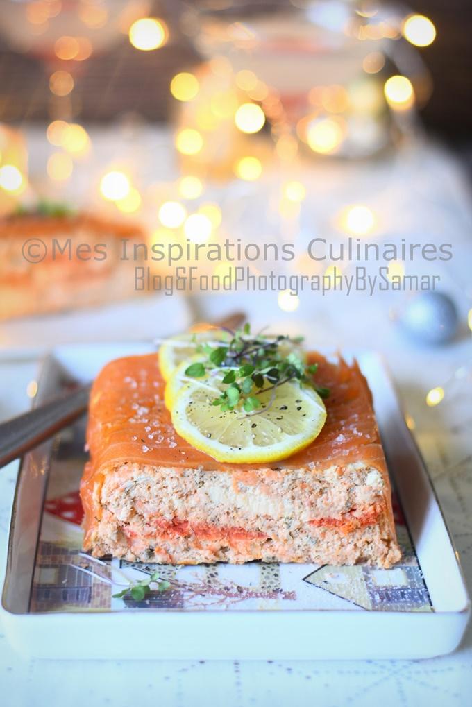 terrine de saumon frais et fume