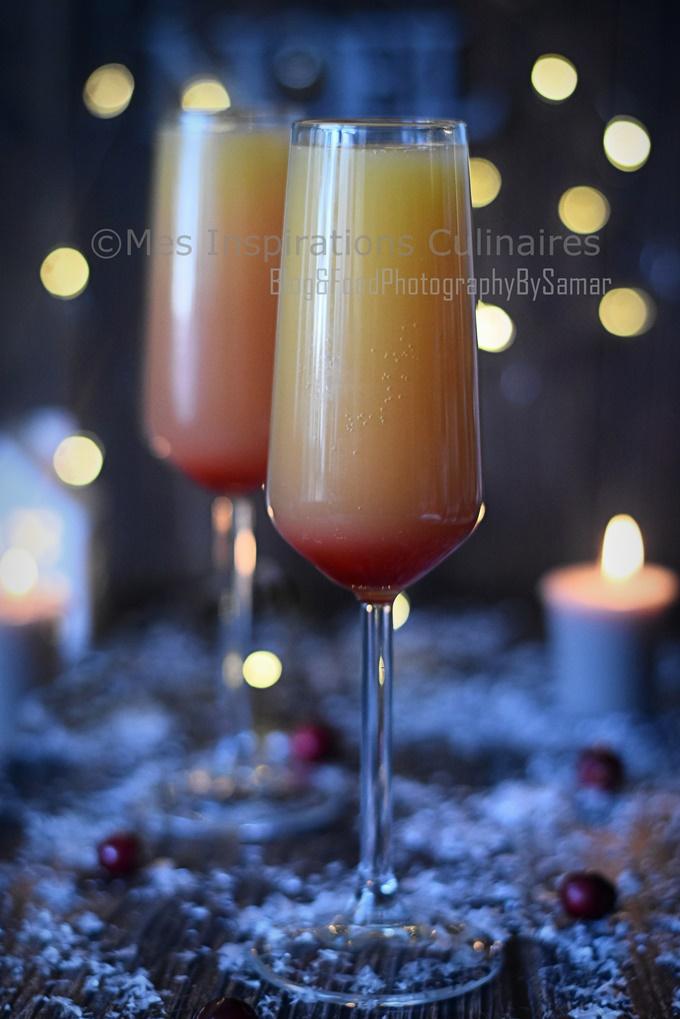 Cocktail Mimosa : Cocktail de Noël