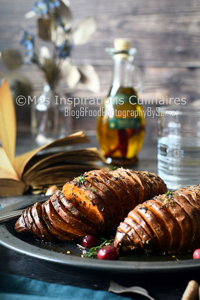patate douce façon hasselback