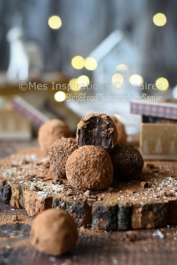 Truffes au chocolat noir maison de Cyril Lignac