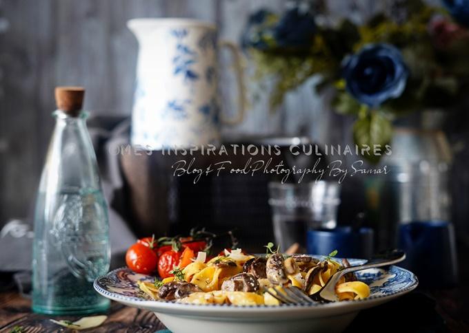 Fettuccine sauce champignons