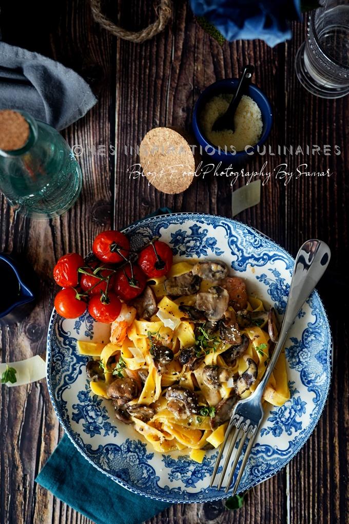 Fettuccine sauce aux champignons recette facile