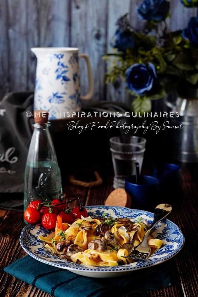 Fettuccine sauce champignons recette rapide