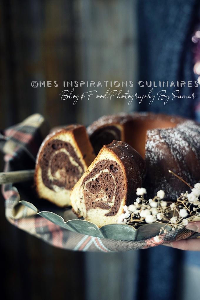 Recette Gâteau Marbré moelleux au lait concentre sucré
