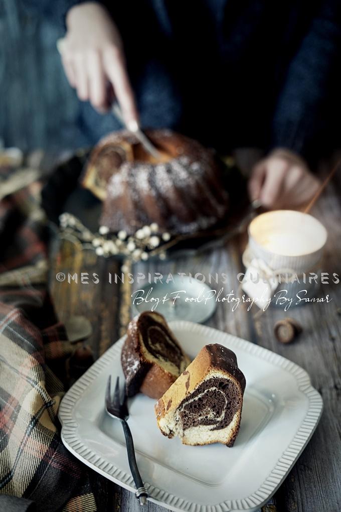 Recette Gâteau Marbré au lait concentre sucré